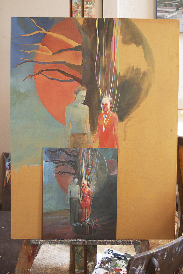 Image showing the larger version of a small oil sketch