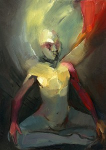 Painting of person meditating